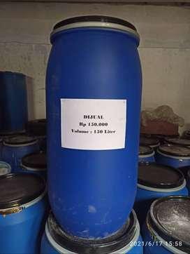 Drum Plastik Biru dengan Kapasitas 150 liter dan 200 liter