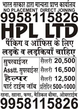 SUPERVISOR, ASSISTANT SUPERVISOR, HELPER IN HPL LTD
