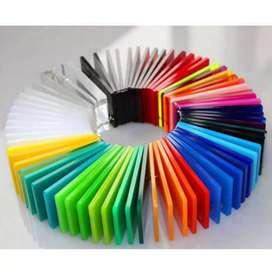 Solid Colour Warna 6mm Acrylic Lembaran uk.122x244 Gading Serpong