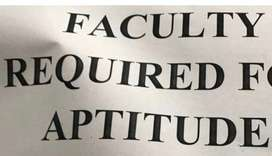 Aptitude faculty for a reputed degree college