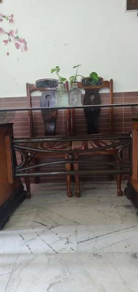 6 chair glass dinning table customised