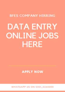 If you want to work with us- Data entry jobs hiring by us
