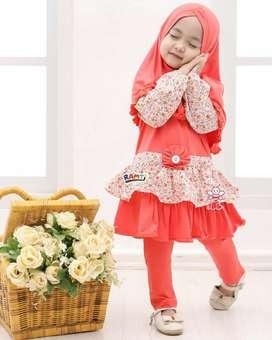 busana muslim anak bahan kaos - baju muslim bayi cewek - dania legging