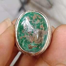 Natural Batu Cincin Pirus Persia Hijau 10