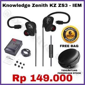 Headset Knowledge Zenith KZ Original Earphone Berkabel - READY STOCK