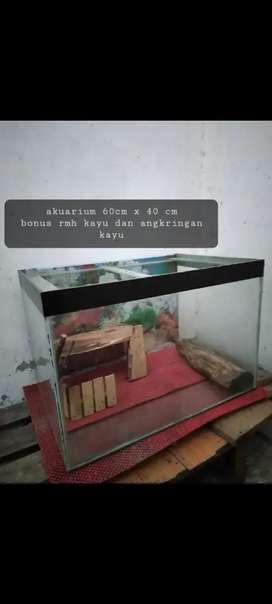 Akuarium / Aquarium / kandang untuk kura2,hamster,reptil,dll