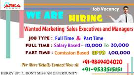 WANTED SALES MARKETING EXECUTIVES AND MANAGERS