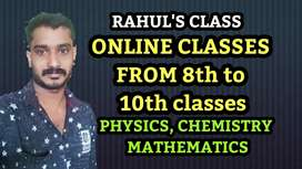 Online classes for physics,chemistry and maths up-to 10 (state &cbse)