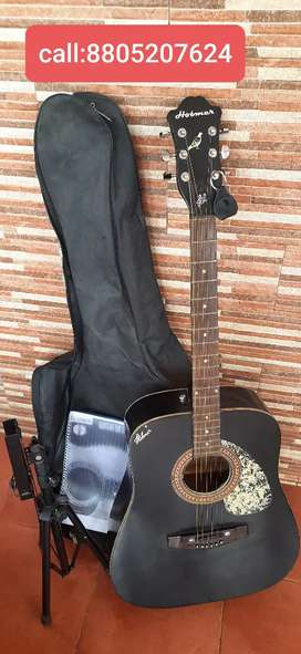 Hobner acoustic  guitar with cover & book stand