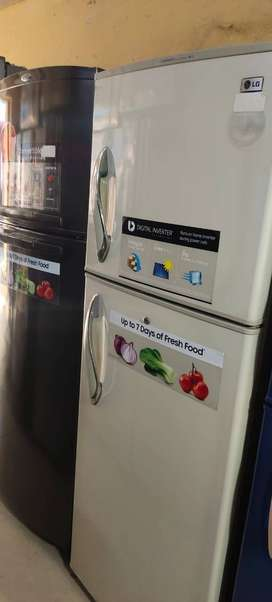with 5 year warranty LG double door fridge with delivery