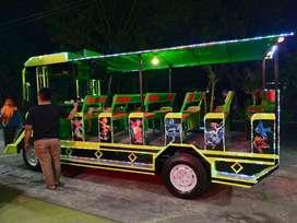 Sirine kereta mini EK panggung fiber odong wisata lampu pancingan