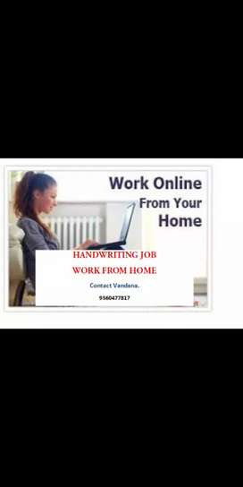 Hand writing work home based part time job