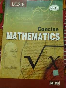 ICSE MATHEMATICS CLASS 10 TEXT BOOK 2019 EDITION