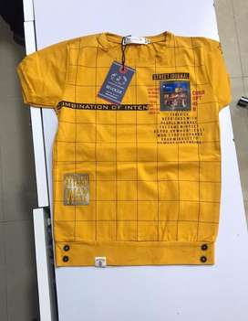 Boys Demin and shirt T shirt