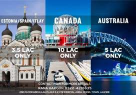 We are dealing Canada, Australia, New Zealand visit visa.