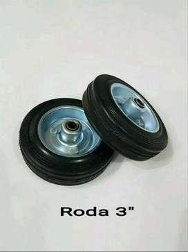 "Roda troli 3"" wheel only roda karet etalase gerobak trolley 3 inch"