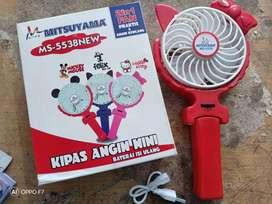 Kipas genggam mitsuyama/Kipas portable MS-5538 rechargerable