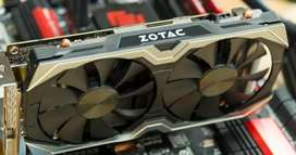 Graphics Card Zotac 1060 3gb Amp Edition dual fan