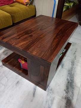 Newly purchased Sheesham Wood Rectangle Shape Coffee table