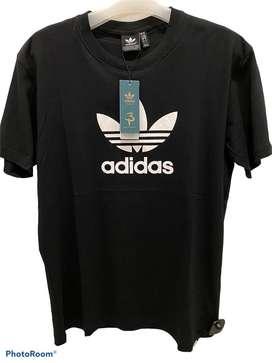 Adidas trefoil black shirt