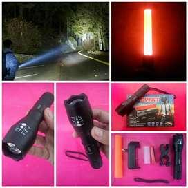Senter SWAT LED Lumen - FULL ALLOY - Ready COD Jakarta - MM - Depok