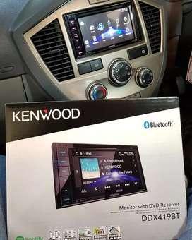Double Din Kenwood DDX 419BT Bluetooth Lengkap Include Instalasi