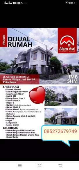 Jual rumah Murah Mewah Berkualitas di tengah kota pekanbaru