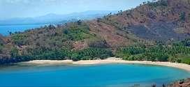 Tanah resort dekat pantai dan pulau pribadi