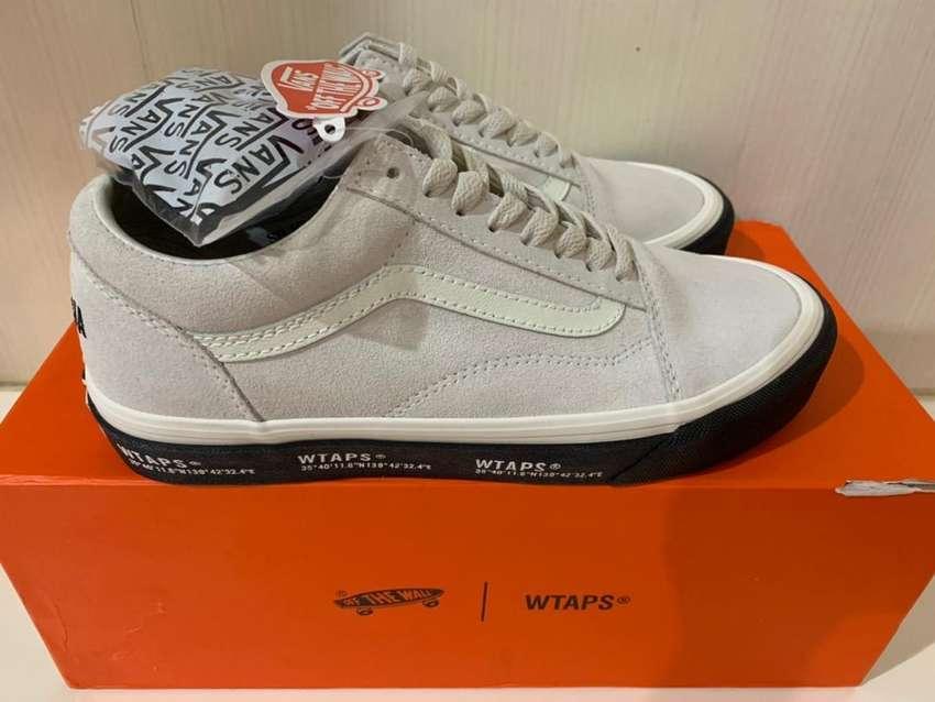 Sepatu Vans Old Skool Vault OG x WTAPS White Black Original 0