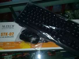 Paket Keyboard Mouse Wireless Mtech