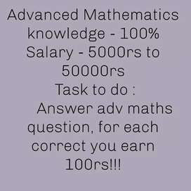 Knowledge in advanced mathematics