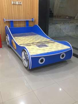 Blu Kids Bed car shape
