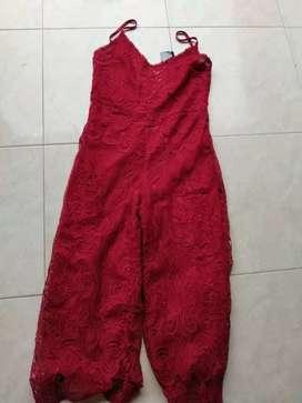 Jamsuit warnaa merahhhh