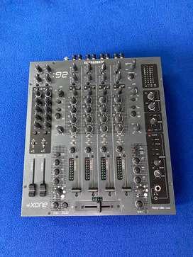 Xone 92 DJ Mixer + Flight Case In Mint Condition! +Addons
