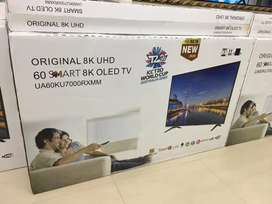 "Samsung 60"" smart QLed Tv { 8K with HDR + Dolby }Android 9.0 brand new"