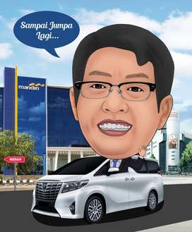 Karikatur Digital Untuk Souvenir Wisuda,farewell kantor,Wedding dll