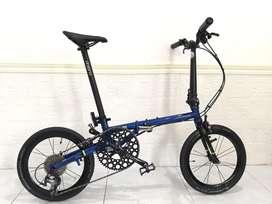 Sepeda lipat Fnhon Gust blue shaffire 16 349