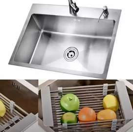 Handmade Single Bowl Steel Kitchen Sink - Delivery - High Quality