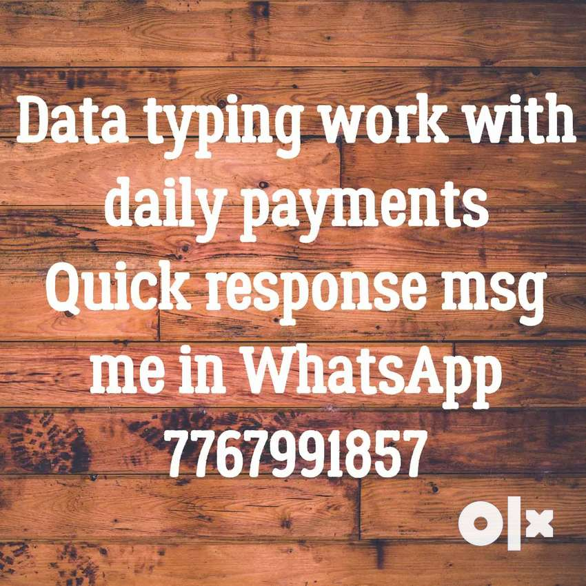 Get paid daily for simple typing work 0
