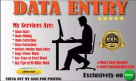 I am sudhir maliya to Data entry for online transaction