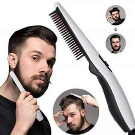Beard& hair straightener bursh
