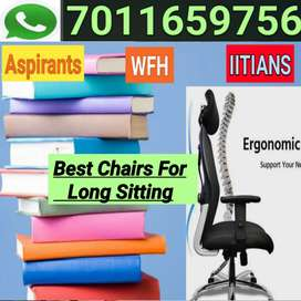 Mesh Office Revolving Chairs | WFH, STUDY, BOSS LONG SITTING CHAIRS