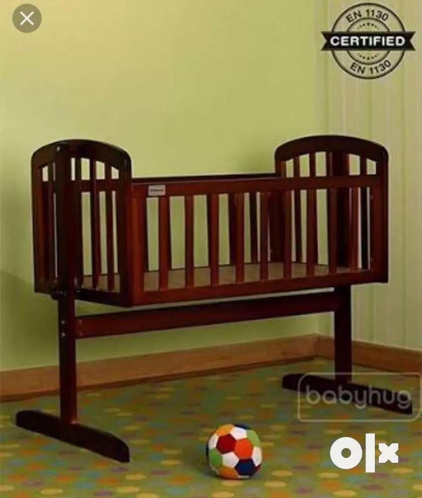Baby Hug, premium wooden swing bed 0