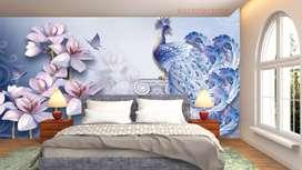 Wallpaper dinding / plafon custom