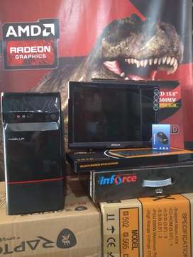 Paket PC FULSET Monitor Besar Core2Duo
