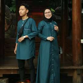 kaftan bahan crape couple