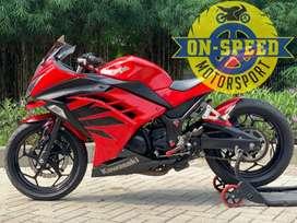 CASH CREDIT jual motor moge kawasaki ninja 250 fi merah 2012 modif