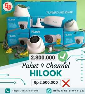 Promo Ramadhan ,,, CCTV Hilook 4Camera 2MP