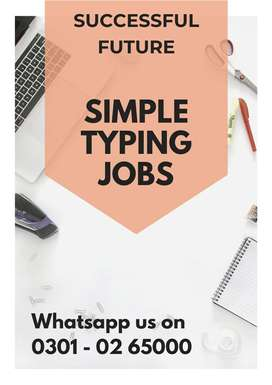 Work From Home/ Part time Job opportunity / Data Typing Job, Students