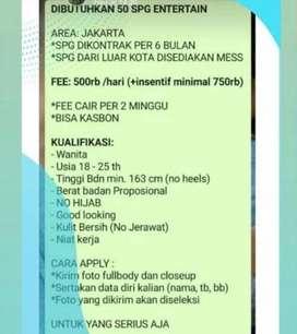 Need SPG 3 orang